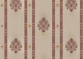 bruin beige klassiek hermitage behang 887320