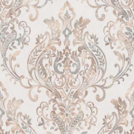 Creme barok behang 37681-1