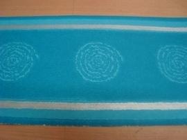 blauw zilver retro behangrand 12