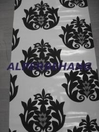 zwart wit barok 3d vinyl behang 68