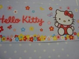 rood wit geel blauw bloemen hello kitty behangrand 70