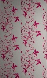 bloemen behang roze creme 99