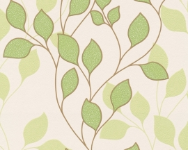 as creation mila 939671 groen creme modern bloemen behang