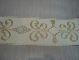 Behangrand goud wit
