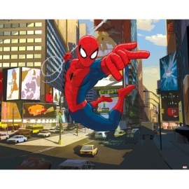 Walltastic - Ultimate Spiderman rood blauw  fotowand