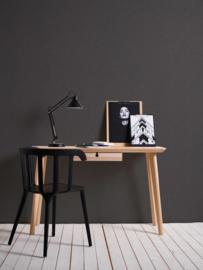 zwart linnenprint behang 36634-7