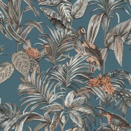Vogel Behang tropical  Wallstitch De120016