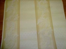 klassiek behang strepen geel goud 4