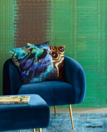 Eijffinger Sundari Wallpower 375200 Paper Weave emerald