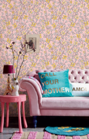 Eijffinger Rice 2 Wallpower 383616 Poetic Wall Flower Pink