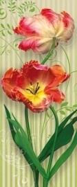 2-1885 Komar Fotobehang Swing rode tulpen behang