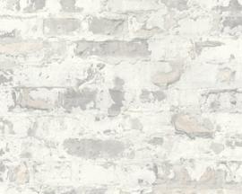 Steen behang verouderd lijkt net gemetseld trendy behang van deze tijd 36929-3