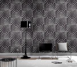 zwart wit zebraprint vlies dieren print behang 25