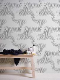 retro behang zwart wit 953018