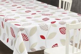 150-088 rood bladeren tafelzeil