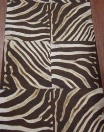 Bruin creme zebraprint afrika vlies dieren print behang XXX12