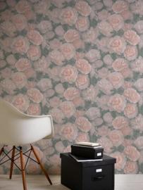 3D bloemen rozen behang xx459