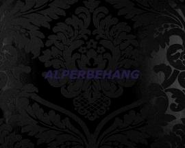 zwart barok 3d vinyl behang  108