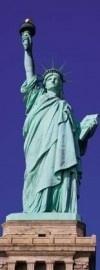 2-1081 Komar Fotobehang standbeeld van vrijheid groen behang