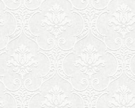 wit overschilderbaar behang barok 35476-1