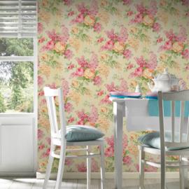 Bloemen behang roze xxx70