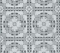 kant tafelzeil tafelkleed wit bloemetjes  ptx20