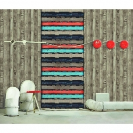 houtstructuur behang 51150817