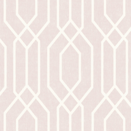 Retro behang roze arthouse 908208
