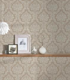 Barok behang beige bruin 36716-3