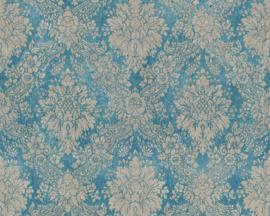 vintage behang barok blauw 33607-5