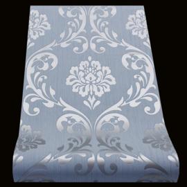 blauw zilver metalic behang xxx81