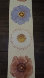 bloemen anjers paneel behang creme bruin blauw xx112