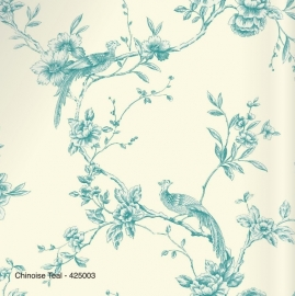 CHINOISE TEAL BEHANG - Arthouse Options 2 425003