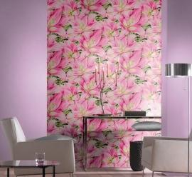 rose bloemen behang 824315