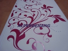 modern behang fuchsia rose wit 573