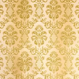 Hermitage behang ornamenten goud Metallic glitter 33545-2