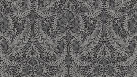 barok behang Erismann Serail grijs zwart zilver 6807-15