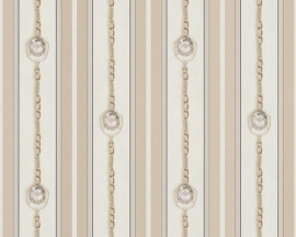 AS Creation Hermitage 9 behang 94354-2 creme beige klassiek diamanten