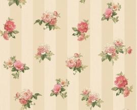 Behang Bloemen crème roze AS Romantica 30447-3