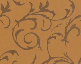 bruin  metalic behang 938365