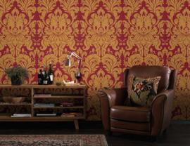 Rood barok behang vlies xxx56