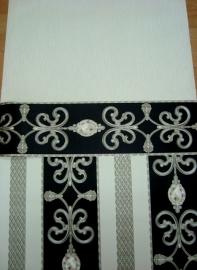 zwart grijs klassiek diamanten vinyl hermitage behang 44