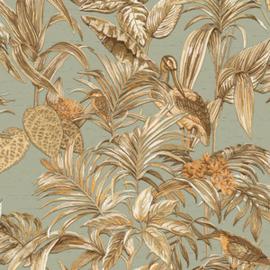 Vogel Behang tropical  Wallstitch De120017
