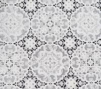 kant tafelloper tafelzeil wit bloemetjes  ptx30