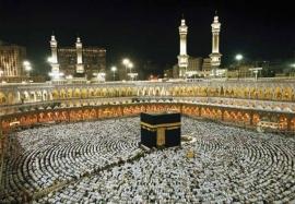Komar fotobehangposter Kaaba at Night 8-110