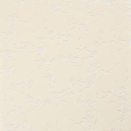 Creme/beige vlies bloemen behang 48391