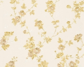 Behang Bloemen wit goud AS Romantica 30428-5