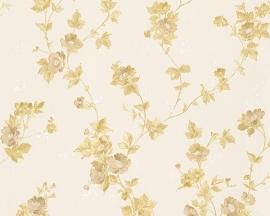Behang Bloemen wit goud AS Romantica 30428-5