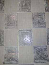 blokjes ruitjes modern behang met glitter 165