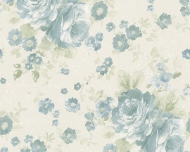 Behang Bloemen wit blauw AS Romantica 30427-2